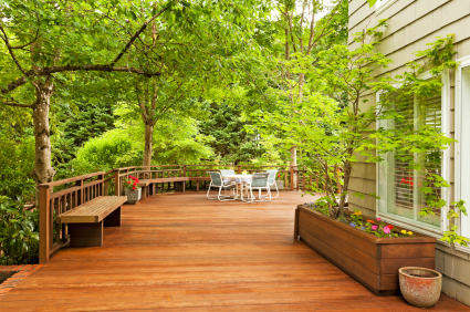 Three Unique Deck Design Ideas Wraparound Tiered And Island Home Owner Ideas