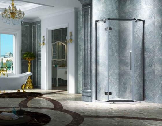 Elegant-Design-Semi-Frameless-Diamond-Shape-Shower-Enclosure-with-Pivot-Door--AB-3231-1