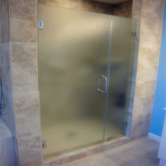 Frameless-Patterned-Textured-Glass-Shower-Door