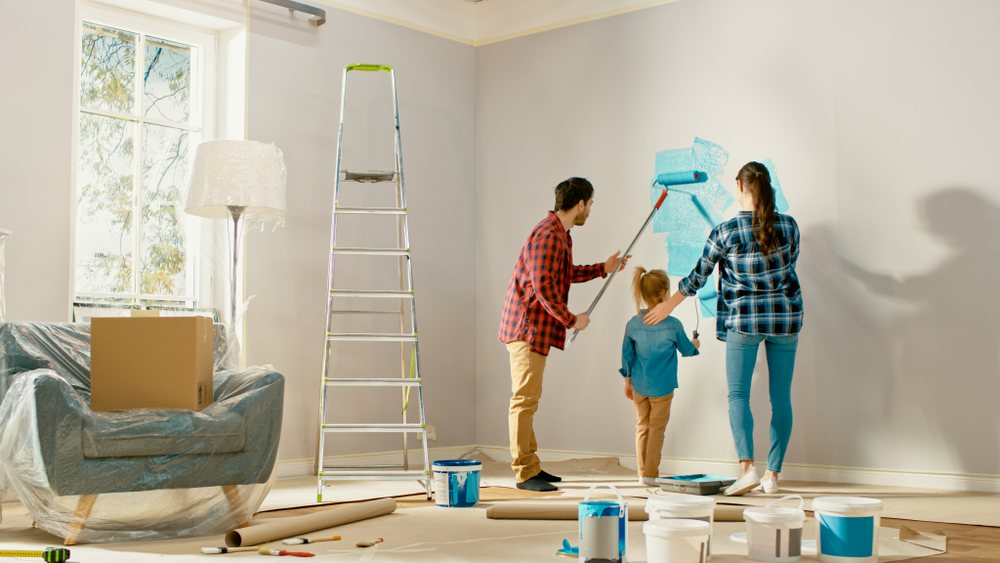 home DIY painting project
